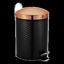 Rozsdamentes szemetes metál külső bevonattal, 7 literes, fekete/rosegold