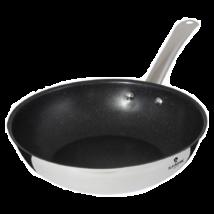 Rozsdamentes acél wok márvány bevonattal, 28 cm