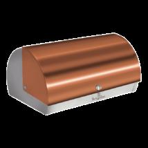 Kenyértartó doboz metál külső bevonattal, rosegold