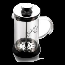Dugattyús kávé- és teafőző, 350 ml, fekete