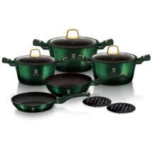 Berlinger Haus Emerald Collection 10 részes edénykészlet titán bevonattal, smaragdzöld metál