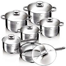 12 részes rozsdamentes acél edénykészlet