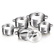 Blaumann Gourmet Line 10 részes rozsdamentes acél edénykészlet, fényes