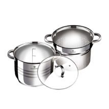 3 részes rozsdamentes acél tészta- és levesfőző készlet