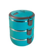 Blaumann 3 részes műanyag ételhordó készlet rozsdamentes belső résszel, tartóval