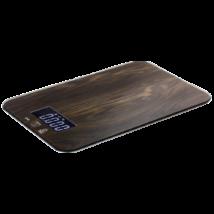 Digitális konyhai mérleg LCD kijelzővel, fa mintázatú