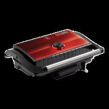 Elektomos grill- és szendvicssütő tapadásmentes felülettel, 1500 W, burgundy