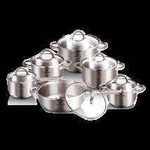 Blaumann Satin Gourmet Line 12 részes rozsdamentes acél edénykészlet, szatén
