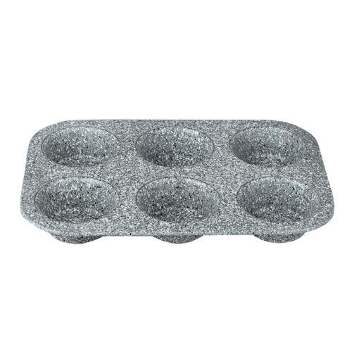Berlinger Haus Stone Touch Line 6 lyukú muffin sütőforma kő hatású márvány bevonattal, szürke