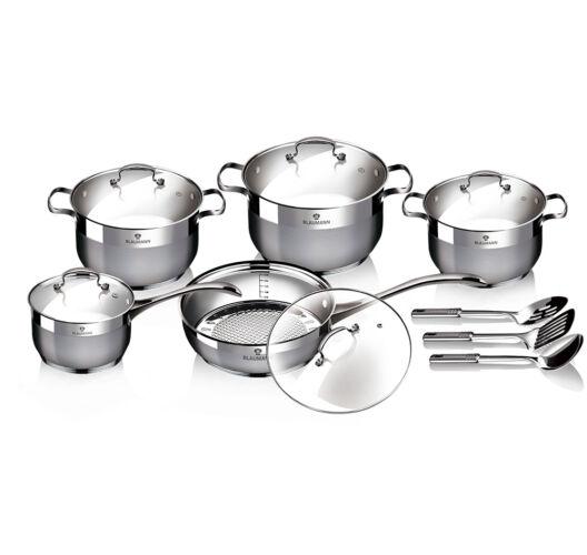 13 részes rozsdamentes acél edénykészlet